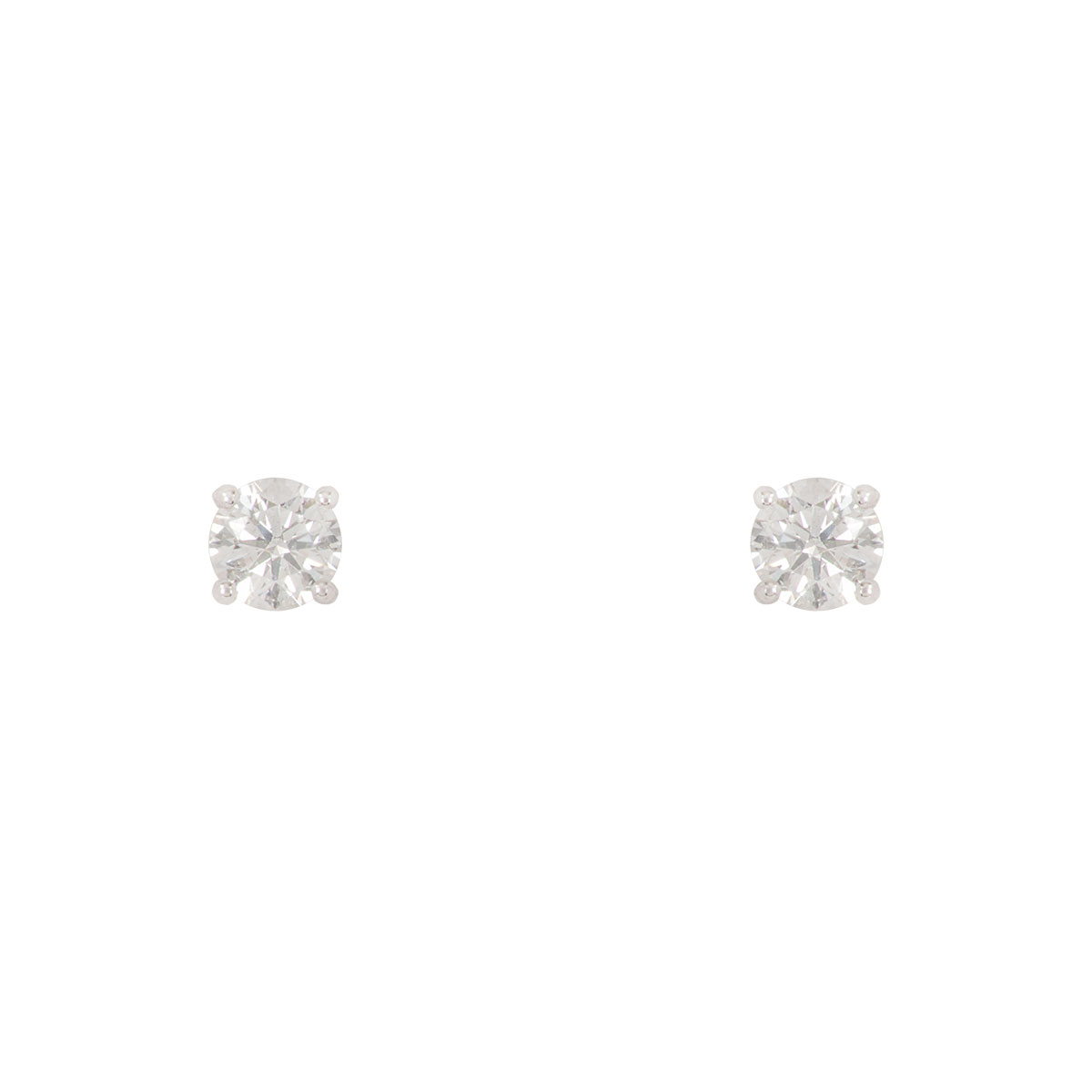 White Gold Diamond Earrings 0.82ct H/VS